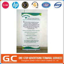 Cost Effective Fashionable Design Custom Shape Printed Advertising Banner In Roll Up Display