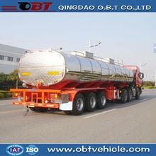 3 axles aluminum mobile fuel trailer , mounted fuel tanks