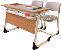 Cheap Wooden Double Combination Desk and Chair Double Combination Table and Chair Sets