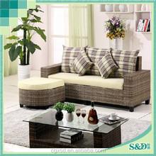 S.D leisure fashion comfortable rattan outdoor classic sofa