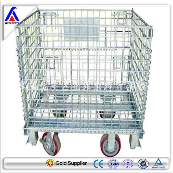 Warehouse Rack Heavy Duty Mesh Box Wire Cage Metal Bin Storage Cage ...