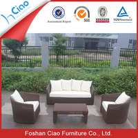 Comfortable outdoor sofa soft furniture wicker sofa