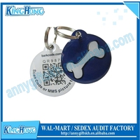 2015 new products engrave enamel qr slide pet id tags