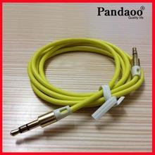 De alta calidad chapado en oro 3.5mm cable de audio estéreo cable aux