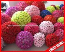 2014 artificial decorativo bola flor barata colorida