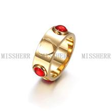 Venta caliente Acepta el anillo de la venda de la joyería pequeña orden para la Mujer GCR010STGCRD