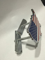 American flag Car Emblems / Car Grille Badges with Bolts and Screws