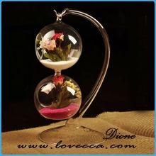 cheap hand blown glass vases / ball shape hanging flower vase / ball shape glass vase