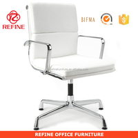 white leather modern swivel executive office chair without wheels RF-S067E