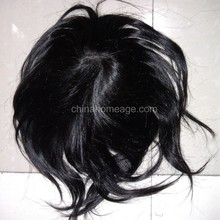 Homeage 100% human hair silky straight toupees woman