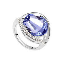 New Arrive fashion cryatal ring 925 sterling italian silver rings