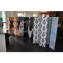 letters art design stretched canvas folding room dividers