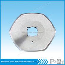 Tungsten carbide blades for cutting fabric