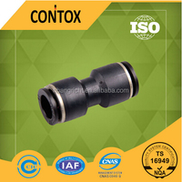 A101 PU plastic material l type union straight connector fittings