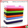 For iphone 5 battery case 2200 charger case ABS+PC power bank 2200mah For iphone 5s cover