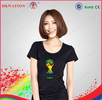 2014 world cup led glow t shirt manufacturer in china