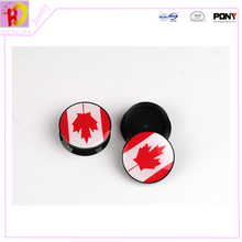 Canada The national flag series Resin round mixed size Ear Tunnels piercing Gauges Plugs body jewelry EKW12