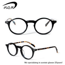 Vintage And Retro Optical Glasses Black Frame With Yellow-Tortoise Temple