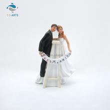 promotional wedding love couple resin cake topper figurine