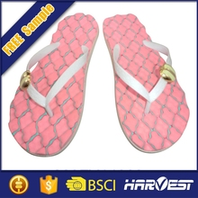 Chinese summer mule slipper with bead designs , bling bright slippers