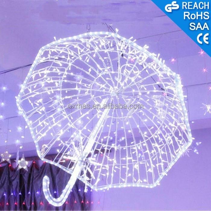 esterne di festa di natale in strada decorazione led luci motivo ombrello 3d