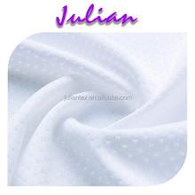 Milk Dot bright white polyester 160gsm Spandex Jacquard lycra Fabric bra lingerie sportswear