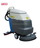 Battery type cordless manual floor sweeper