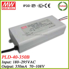 Meanwell constant current led driver 350ma PLD-40-350B