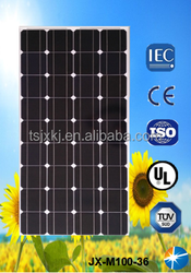 Monocrystalline solar panels 100w with TUV, CE, UL certificates