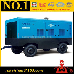 Screw Type 1155CFM 25bar Diesel Driven Portable High pressure air compressor