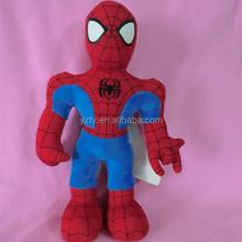 custom design soft plush spiderman toys
