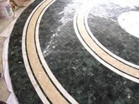 Pool / Pond India Green marble mosaic medallion tile