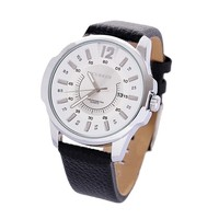 Fashion playboy quartz watch new curren leather strap watch