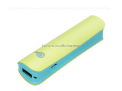 2015 popular gift promotion USB external power bank for mobile phone (2000mAh)