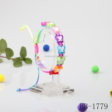 plastic colorful pearl bracelet for girls popular style alibaba hot sell
