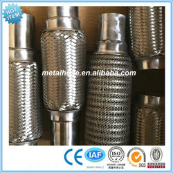 stainless steel exhaust muffler/corrugated pipe for exhaust/industrial silencer