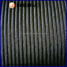 China Nantong Shenwei 6x12+7FC 19.0mm electrical galvanized steel wire rope