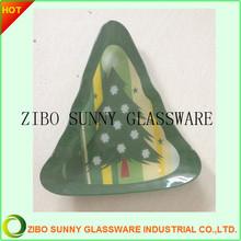 Christmas Tree Shape Glass Plate