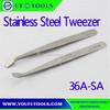 36A-SA Broad Angle Tip Tweezers ,Flat Angle Tip Stainless Steel Tweezer