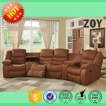 Motion Home Theater cinema TV relief sectional leather sofa Set Living Room Furnishings 91260