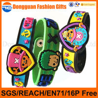 Customized Colorful soft plastic eco-friendly pvc wrist band for sales