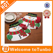 2015 popular christmas decorations wholesale Snowman Placemats