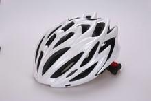 adult professional sport helmet PC-in mold , quality bicycle helmet in white cover , black visor EPS sport adult helmet