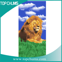 lion Colorfed 100%cotton individuality awesome custom printed beach towels