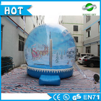 Advertising Giant Inflatable Human Snow Globe, photo snow water globes,transparent inflatable christmas snow globes