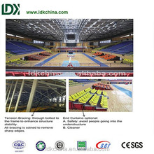 Anti UV stackable plastic bleachers retractable seating system used for basketball