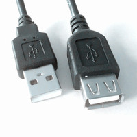 Hot sale xlpe welding extension power electrical wire USB 2.0 charger A Male To A Female Cable