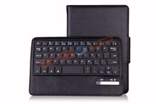 For Ipad mini/mini 2 Removable Magent Bluetooth Keyboard With PU Leather case ebour011