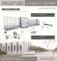 Vertical Auotomatic Flat Press Insulating Glass Produce Line,double glazing glass machine