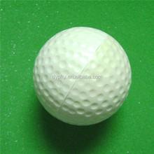bulk promotion cheap pu foam custom white golf antistress ball factory